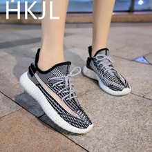 HKJL Womens shoes summer 2019 new white sports womens casual mesh wild breathable tide net Z017