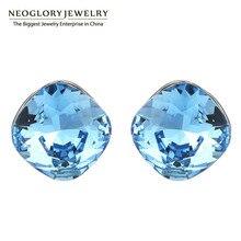 Neoglory австрийский кристалл милые серьги гвоздики для женщин известный бренд ювелирные изделия подарок на день рождения Новинка леди любовь В1
