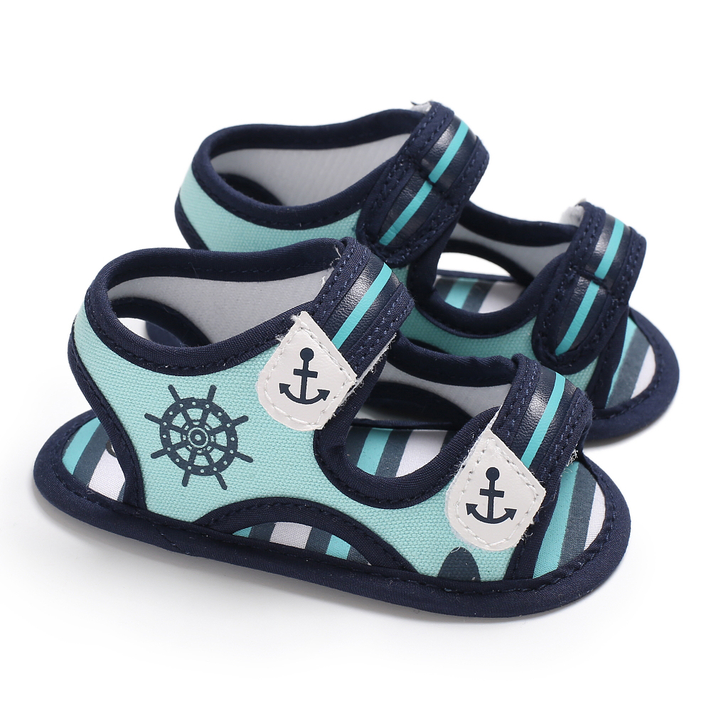 Emmababy 2019 New Brand Cool Summer Infant Boy Sandals Canvas Kids Baby Boy Sandals Soft Toddler Shoes