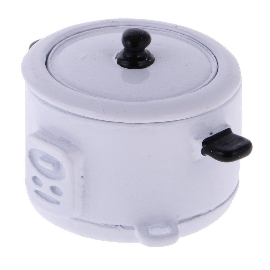 Миниатюрный Электрический Плита с рисом ложка для 1:12 Кукольный Миниатюрный Кухонная посуда Кухня Мебельная фурнитура детские игрушки