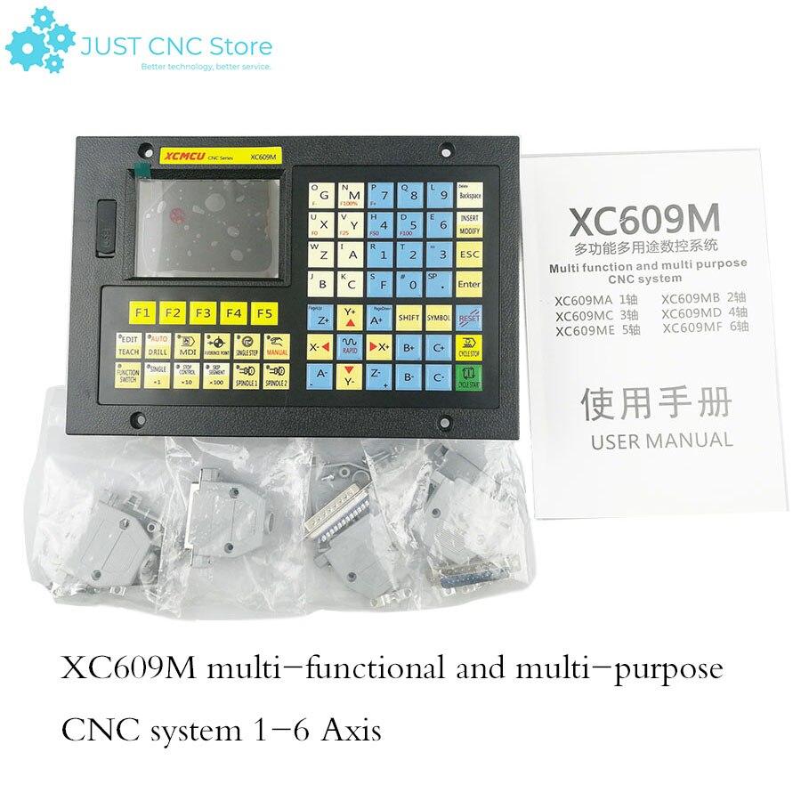 CNC фрезерная система 1-6 осевой Автономный контроллер XC609M Breakout доска гравировальный станок управления комбинированный hmi сенсорный экран