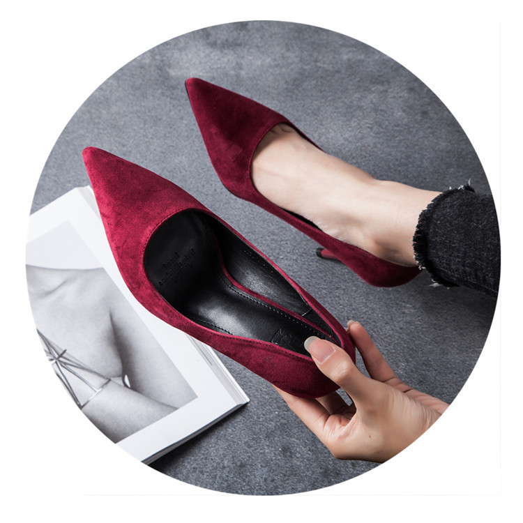 2018 goede kwaliteit bruiloft schoenen fashion party Schoenen Hoge Hakken rode kleur-in Damespumps van Schoenen op  Groep 3