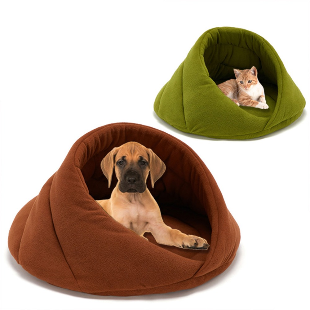 Warm Cat Cave House Pet Bed Dog Soft Cushion Padded Mat Chihuahua Kennel