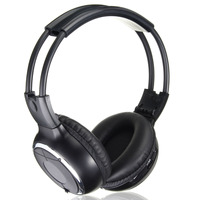 Universal SUV Car Rear Wireless IR Headphone Foldable Stereo Headset Headphones Two Channel For PC DVD