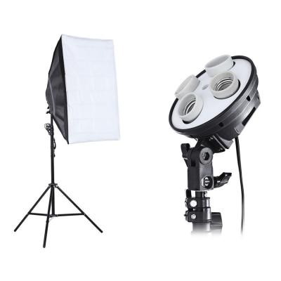 3 в 1 фотостудия комплект держатель ламп 4 осветительная стойка 2 м, 50x70 см софтбокс с бесплатной доставкой