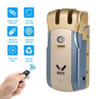WAFU 010 télécommande sans fil serrure électronique Invisible sans clé entrée serrure intelligente avec 4 clés à distance