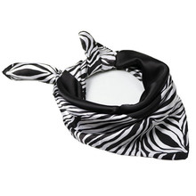 2019 Spring Fashion Zebra Print Silk Small Square Scarf For Women Retro Black And White Striped New Design Bandana Handkerchief цена