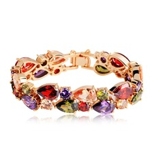 Cubic Zircon Mona Lisa Necklace Earrings Bracelet brooches Set