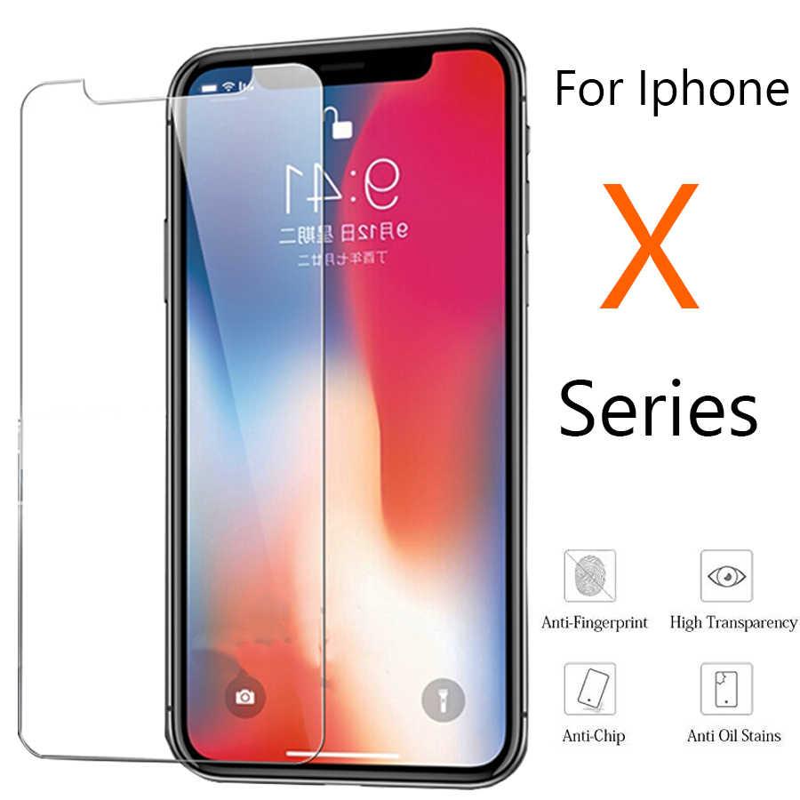 Szkło ochronne na apple iphone xs max ochraniacz ekranu pobla de segur telefonu x xr xmax xmaxs szkło hartowane aphone s r w przypadku iphone film