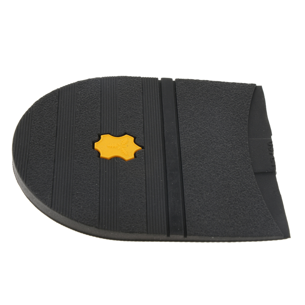 5 Pairs Rubber Heels Glue On Heel Repair Pad, High Heel Shoes Anti Slip Plates Replacement, DIY Heel Plates Shoe Heel Taps