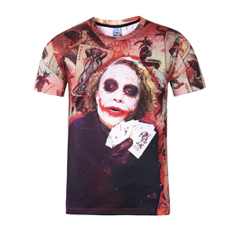 2016 new suicide squad joker t shirt men fashion 3d printed clown t shirt casual short.jpg 250x250