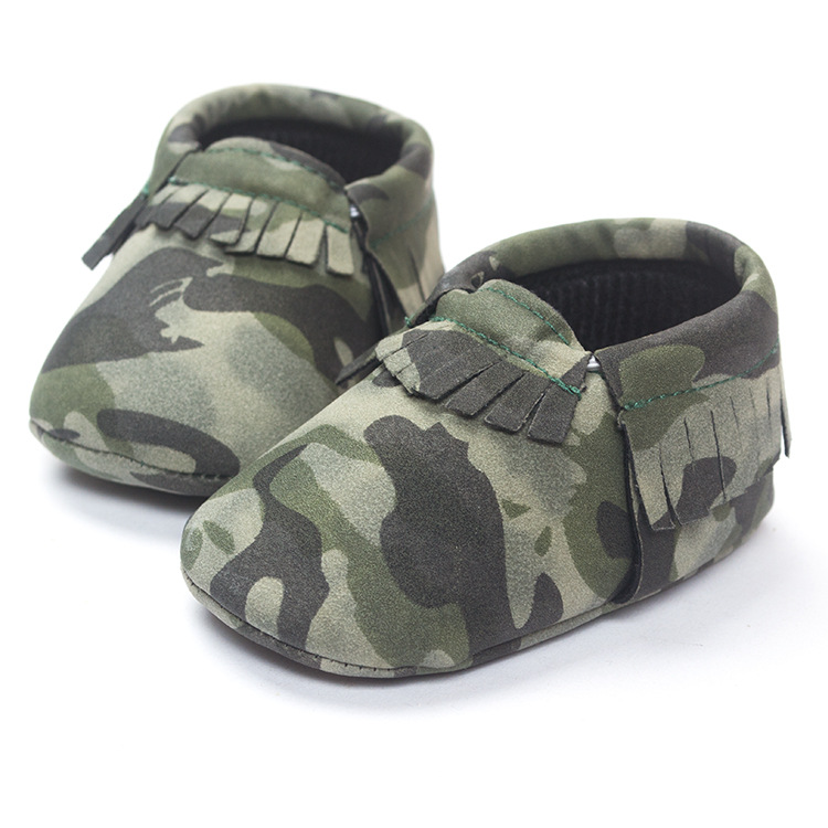 fa0086905 Zapatos mocasines calzado cuna pu Zapatos bebe confort niños moccs  camuflaje leopardo niño niños primeros caminante