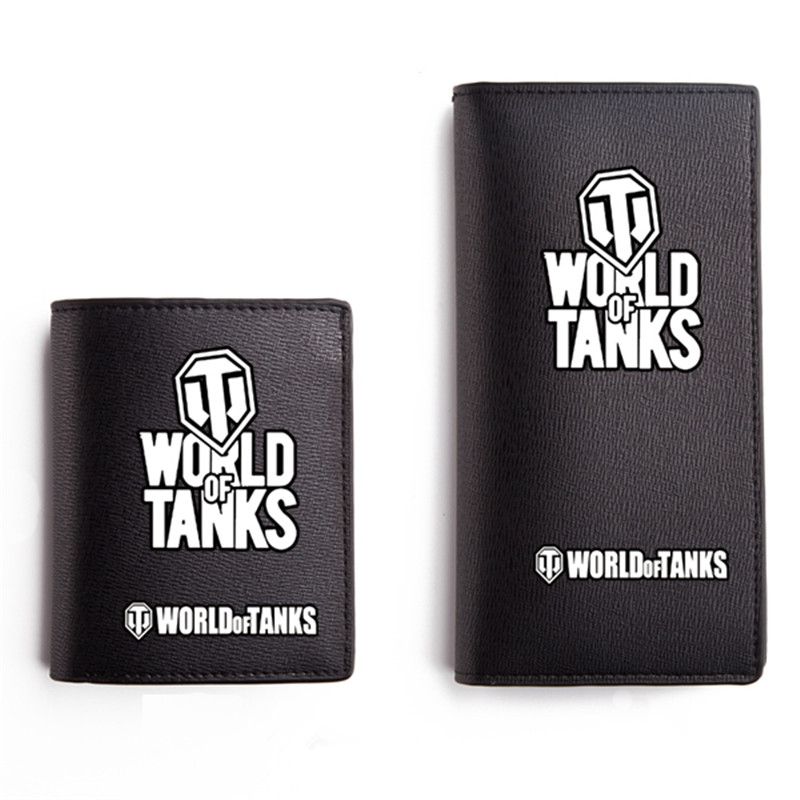 2017 New Game World of Tanks Printing Unisex Long Wallet Pu Leather Men Short Coin Purse Fashion Passport Card Holder