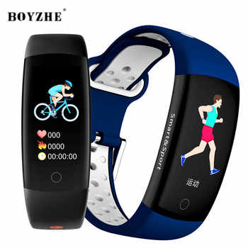 BOYZHE Smart Armband Farben 3D dynamischen Blut Druck Herz Rate Monitor Smartband Armband Wasserdichte Sport Fitness Uhr Band