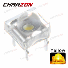 100pcs 5mm LED Piranha Yellow Water Clear 20mA DC 2V Ultra Bright 5 mm Round Lens Light Emitting Diode LED Lamp Through Hole DIY