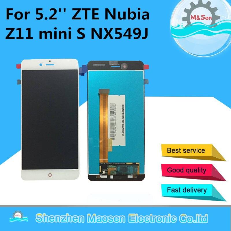 M & Z11 Sen Para ZTE Nubia mini-s NX549J LCD screen display + toque digitador para z11 mini s display lcd
