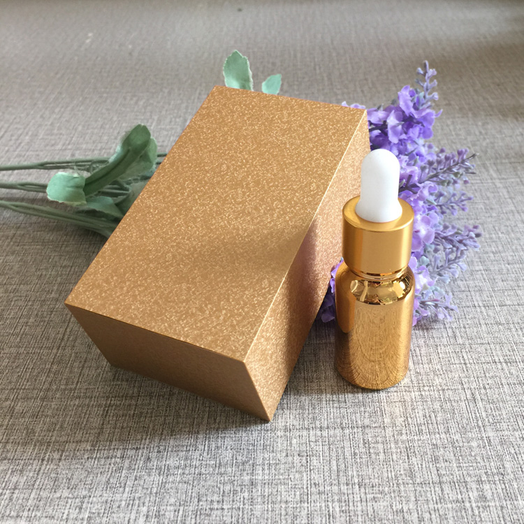 4pcs 10ml vacuum plating golden empty  dropper bottle With wooden box,glass essential oil bottle, perfume subpackage jar 4pcs 30ml frosted glass bottle empty dropper bottle with wooden box gold cap essential oil bottle perfume subpackage jar