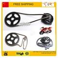 chain +front gear box + rear sproket  set 47cc 49cc pocket bike mini moto atv quad 2 stroke part free shipping