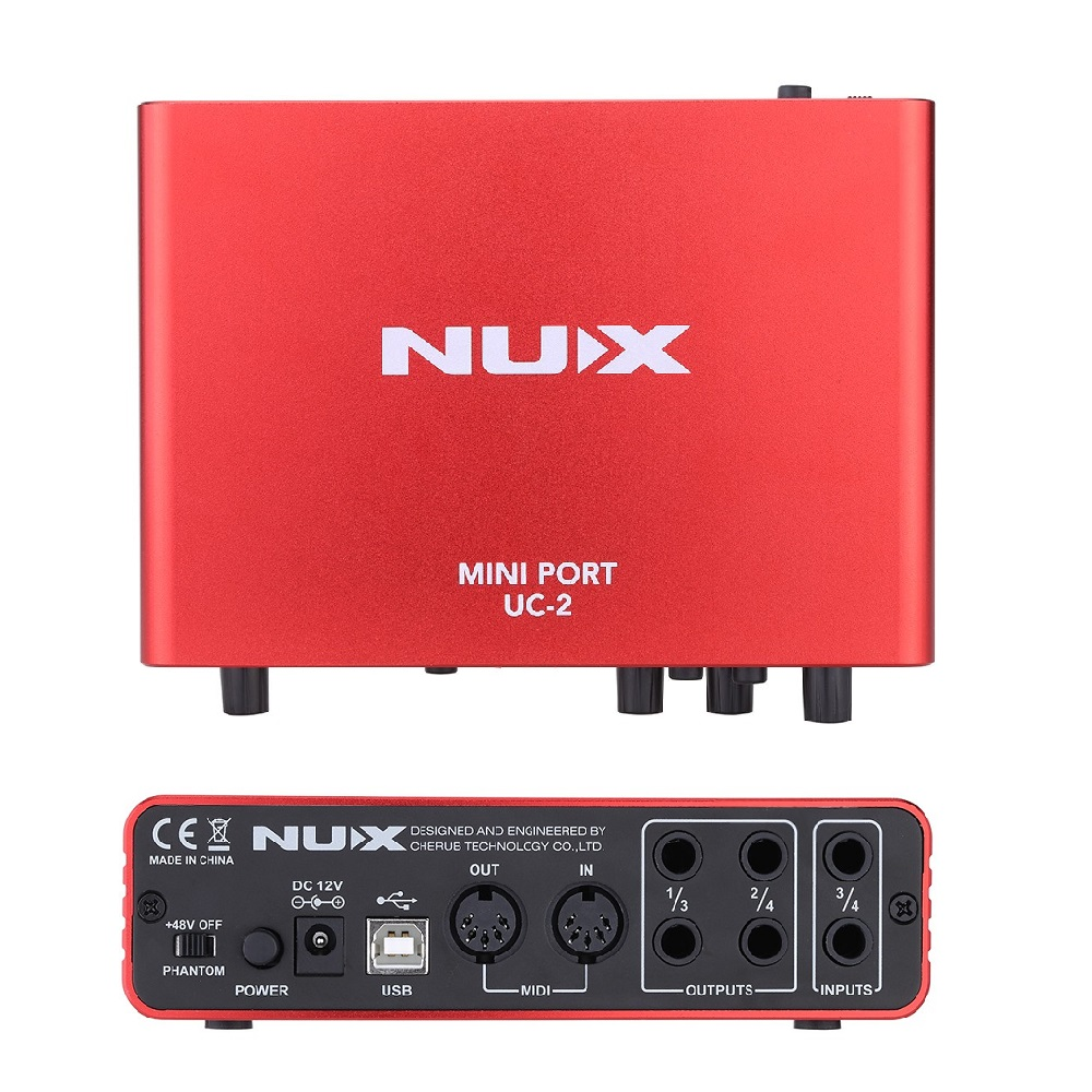 nux uc 2 mini port usb xlr input output audio interface for mic midi instrument recording. Black Bedroom Furniture Sets. Home Design Ideas