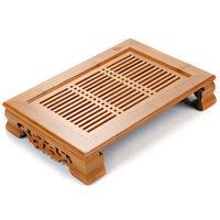 [GRANDNESS] Elegant Rhyme Gongfu Tea Tray * Bamboo Gongfu Tea Table Serving Tray 14 X 10.3