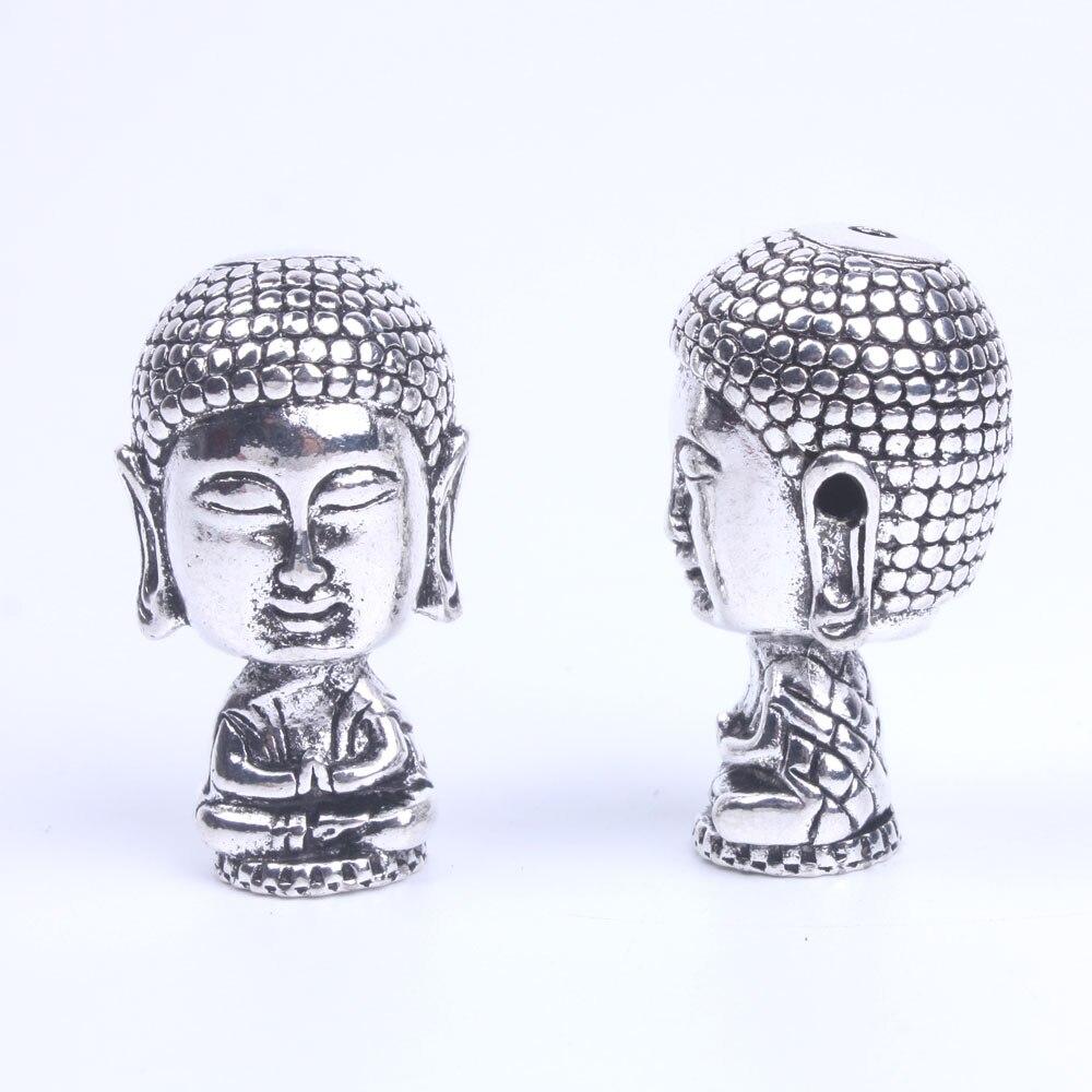 1 Stücke Alte Silber Tibetischen Buddhismus Mala Guru Perlen Für Schmuck Machen Lieferungen 4 Loch, Rosenkranz Maker 19mm * 34mm * 19mm Kataloge Werden Auf Anfrage Verschickt