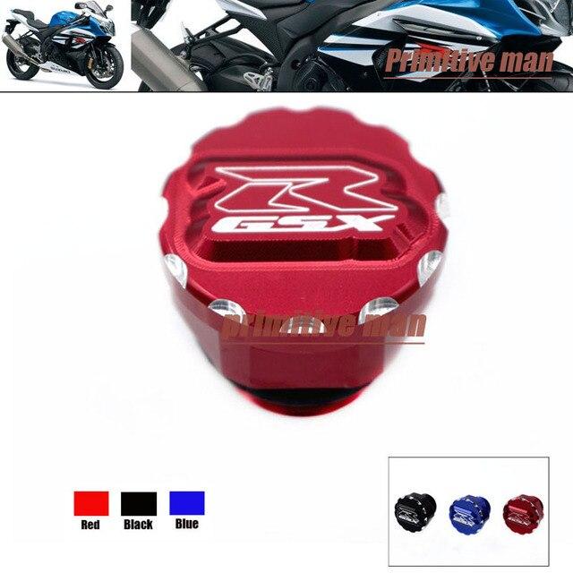Motorcycle Accessories 3D Logo Billet Aluminum Oil Filler Cap Screw For SUZUKI GSX-R 600 GSXR750 GSXR 1000 GSX-R1100 Red