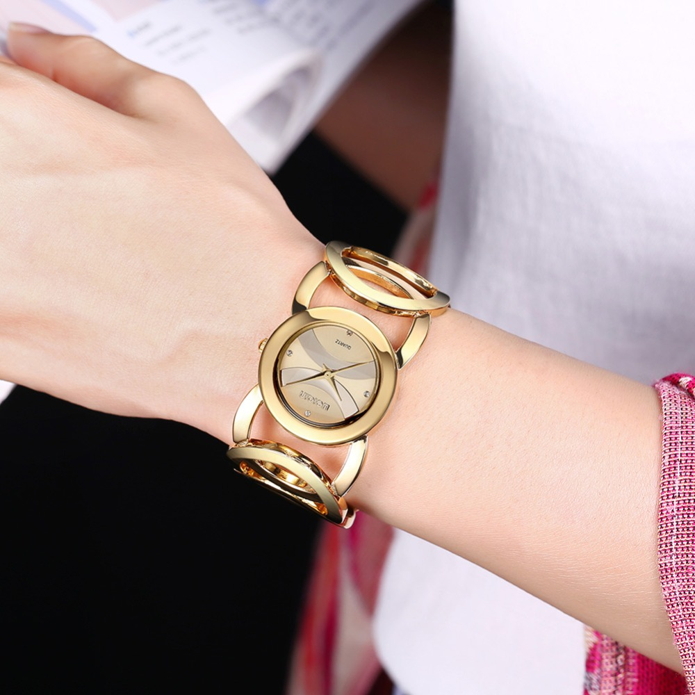 3375d00136a WEIQIN Brand Luxury Crystal Gold Watches Women Fashion Bracelet Quartz  Watch Shock Waterproof Relogio Feminino orologio donna-in Women s Watches  from ...