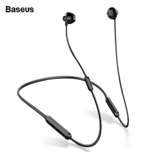 Baseus S11A Bluetooth Earphone Wireless Headphone Headset Neckband Sport Earbuds auriculares For iPhone Xiaomi Earpiece With Mic hevaral magnetic neckband wireless earphone sport bluetooth 5 0 headphone with mic sweatproof bass headset earpiece auriculares page 5 page 5 page 3