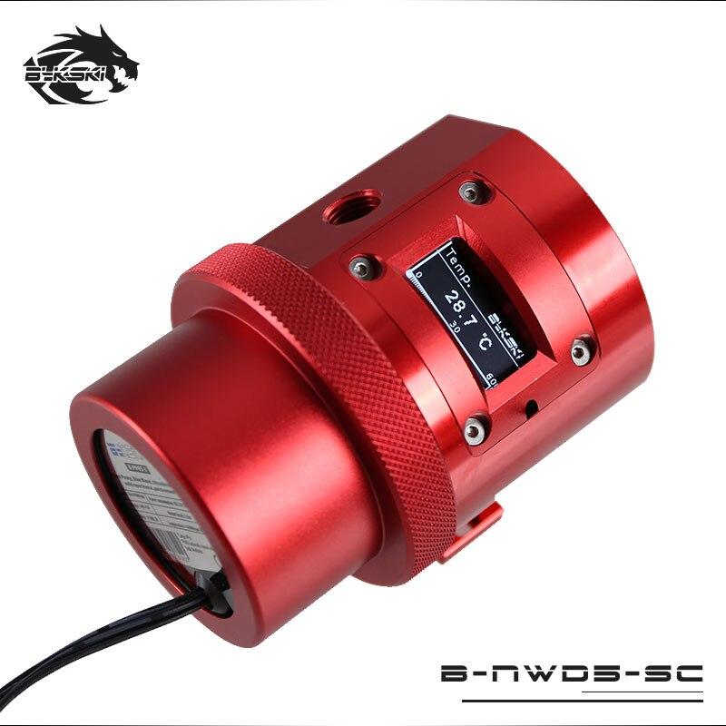 Bykski B-NWD5-SC pompe de refroidissement à eau avec affichage du capteur de température D5 MCP655 1100L/1500 3.8 M rouge