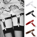 New Arrival Women's Sexy Elasticity Heart Faux Leather Tight Suspender Punk Garter Belts