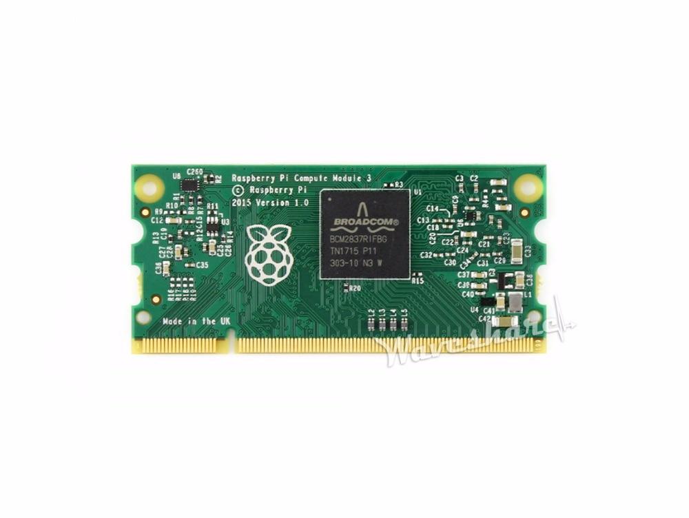 Waveshare Raspberry Pi Compute Module 3 RPi CM3 mini PC 64-bit 1.2GHz quad-core ARM Cortex-A53 processor 1GB RAM 4GB eMMC Flash недорого