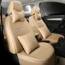 цена на customize leather set car seat cover for Citroen QUATRE Triomphe elysee Picasso C2 C4 C5 C4L free shipping fireproof top quality