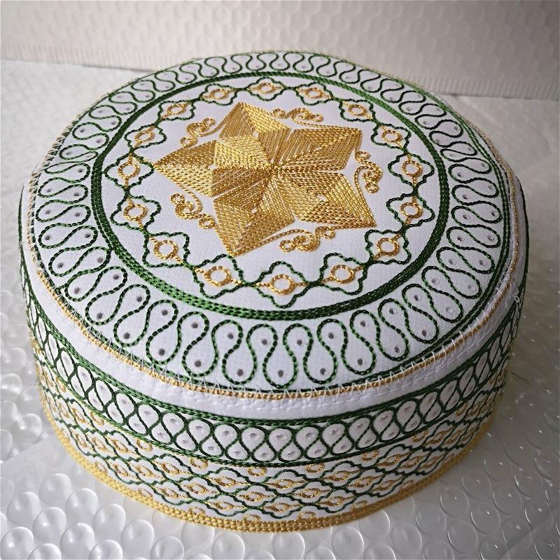 Men Islam Prayer Hats High Quality Embroidered Caps Islamic Kufi  Topi Kippot Kippa Muslim Turkish Namaz Egyptian Mens Head HatsIslamic  Clothing