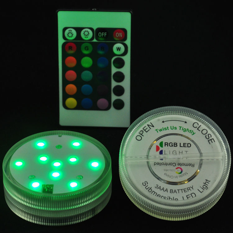12Pcs/Lot LED Light Submersible Micor Landscape Lighting Party Light Battery Operated Electronic Candle With Remote Control