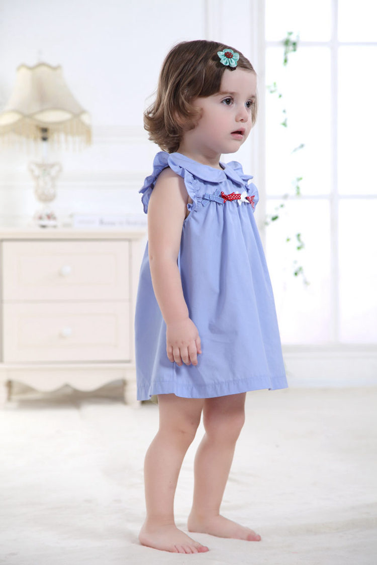 64b7b6bb30de6 Newborn Infant Baby Dress 100% Cotton Pink Fashion Baby Girl Vestido 2017  Daily Toddler Clothes For 1 Year Old ABD164006