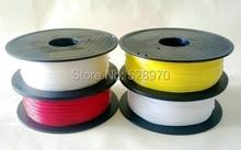 Бесплатная доставка 100 г/пакет гибкие накаливания образец никаких катышек 8 видов цветов Опции резина для 3D-принтеры 1.75 мм 3 мм Flex упругой нити