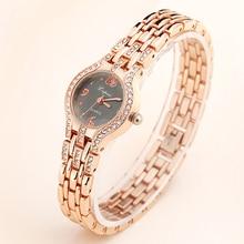 Lvpai Brand 2017 New Women Watches Luxury Fashion Bracelet Wrist Watch Laadies Crystal Gold Dress Quartz Clock Simple Rose Gold