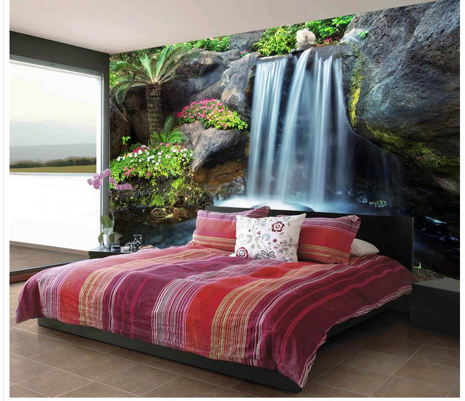 Custom Any Size 3D Aesthetic Landscape Waterfall Wallpaper 3d Murals Wallpaper For Living Room 3d Wallpapers