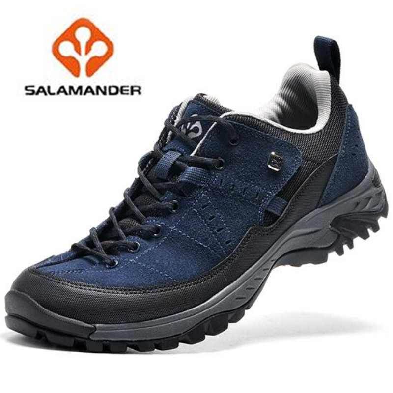 ФОТО 2017 NO33 sport running shoes Original salamander Genuine Leather Sport Running Shoes for Men outdoor sport  Shoes Sneakers