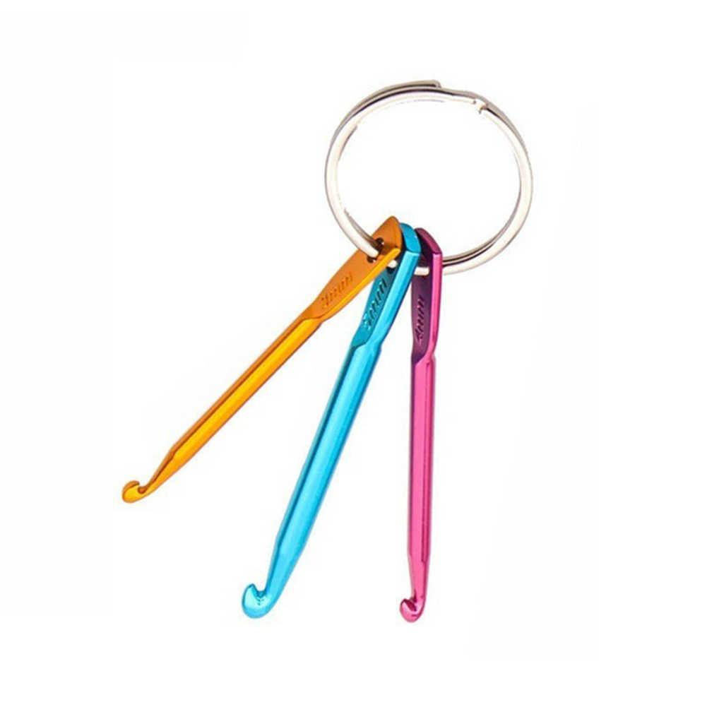 3 unids/set ganchos de ganchillo conjunto de llavero herramientas de tejer agujas de ganchillo ganchos de ganchillo #6272