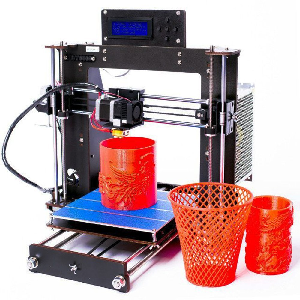 2018 NEW 3D Printer Prusa i3 Reprap MK8 DIY Kit MK2A Heatbed LCD Controller black anet a2 reprap prusa i3 3d printer aluminium metal frame lcd display pla 8g sd card as gift fast shipment from moscow