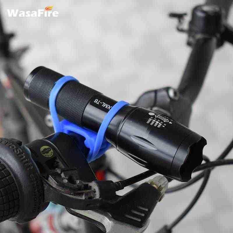 Wasafire Baru Tali Silikon Mountain Road Sepeda Senter Telepon Band Elastis Perban Lampu Sepeda Mount Pemegang Sepeda Lampu