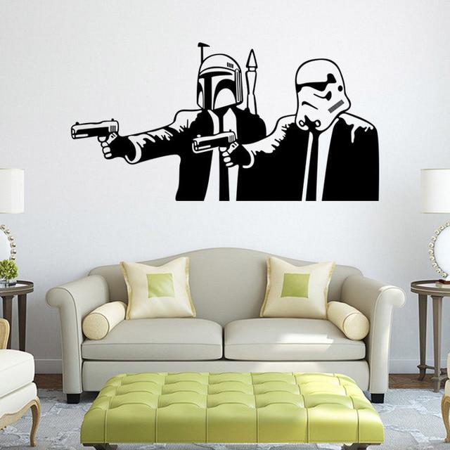 STAR WARS MEETS PULP FICTION Wall Art Sticker, Wall Decal HOME DECOR ...