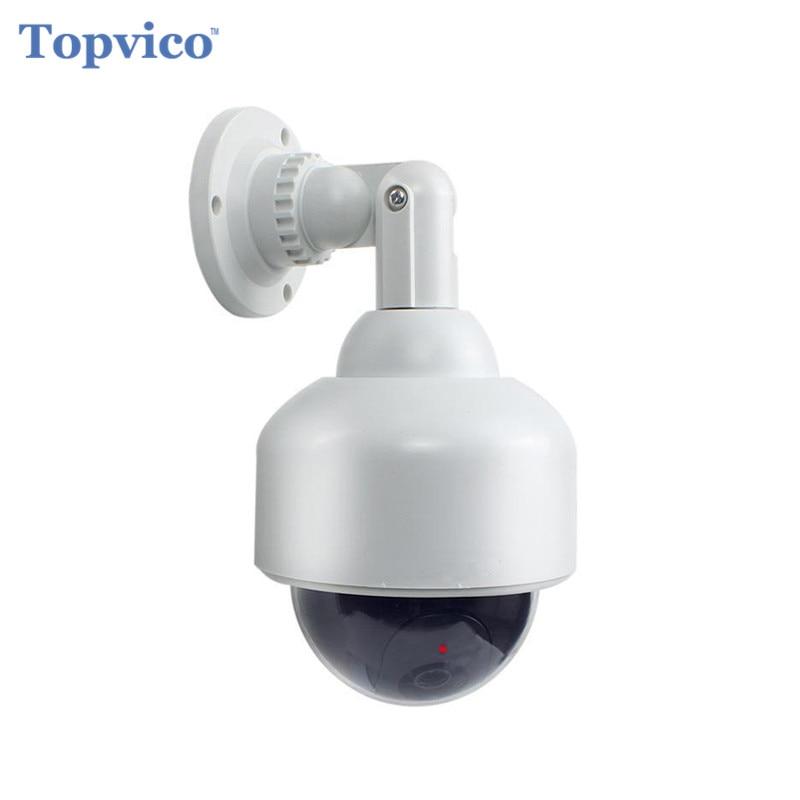 Topvico Dummy Camera PTZ Speed Dome Battery Powered Flicker Blink LED Fake Outdoor Surveillance Security Camera Cctv Camera все цены