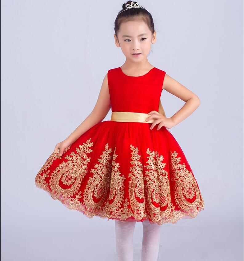 A-line First Communion Dresses for Girls Knee-Length Graduation Gowns Children Sleeveless Mother Daughter Dresses with Lace