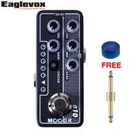 Mooer 010 Two Stone Micro Dual Channel Preamp Guitar Effect Pedal With Free Connector And Footswitch