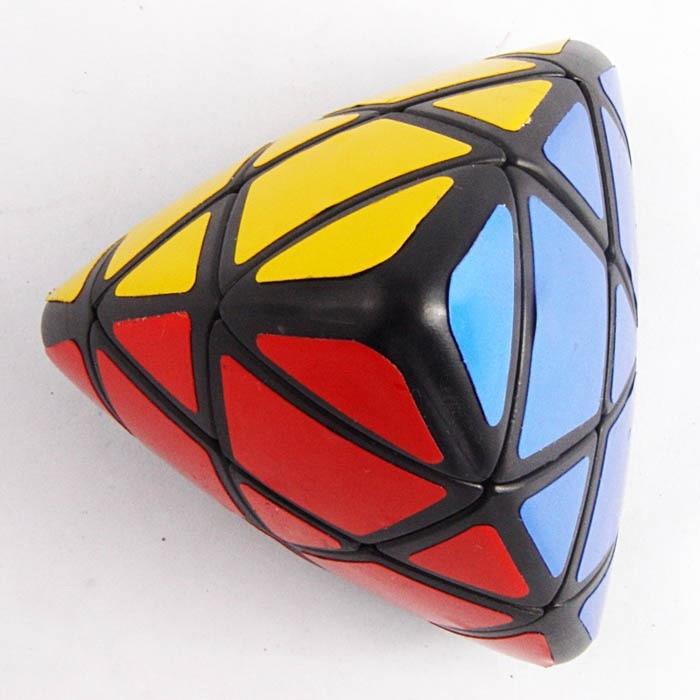 Puzzle Cube magique Lanlan Mastermorphix noir et blanc avec 4 autocollants couleurs