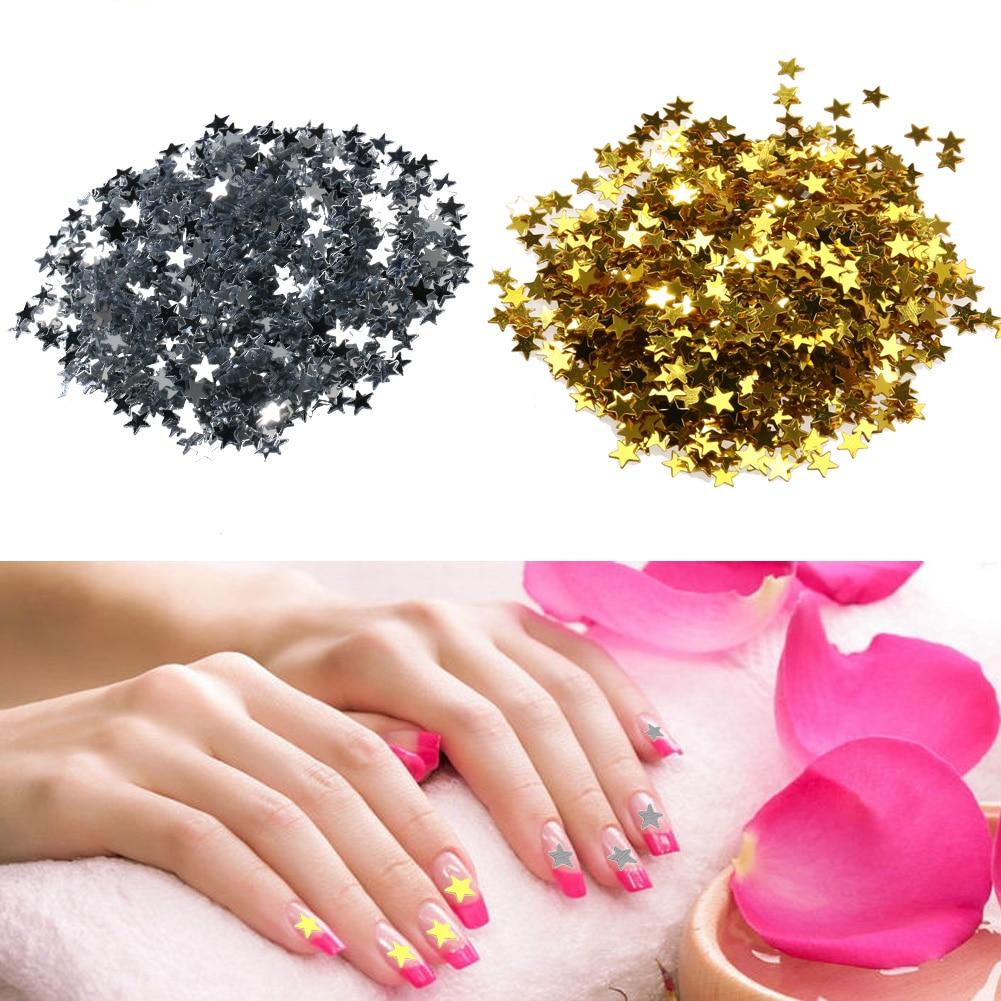 24 Buah Bintang Perancis Seni Kuku Akrilik Palsu Tips Lengkap Jbs Nails Wedding Fake Nail Art 3d A18 3000 6000 Pcs Lima Menunjuk Shiny Sparkle Sequin Diy Glitter Manicure