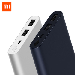 10000 мАч Xiaomi Power Bank 2I повербанк 18 Вт Быстрая Зарядка для Мобильных Телефонов, обновление с двойной USB Выход