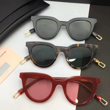 GENTLE MAYA Women men Classic Rivet Shades Frame Vintage Cat Eye Sunglasses Oculos